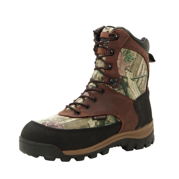 "Rocky Outdoor Boots Mens 8"" WP Insulated Brown Mossy Oak"
