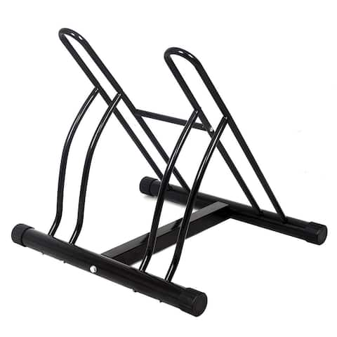 Costway Two Bicycle Bike Stand Racor Garage Floor Storage Organizer