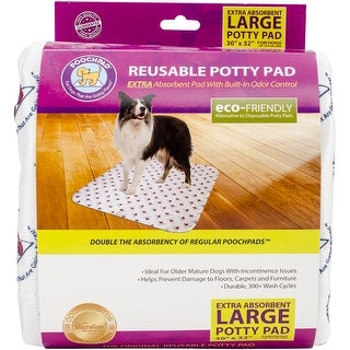 """PoochPad Reuse-able Potty Pads for Mature Dogs- Extra Absorbent, Large 30"""" x 32"""""""