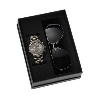 Link to Bulova Men's 98K100 Strainless Chrono Watch and Sunglass Box Gift Set - Silver-Tone Similar Items in Men's Watches