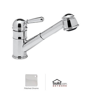 Rohl R77V3 Country Kitchen Faucet with Pull Out Spray and Metal Lever Handle