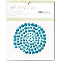 Self-Adhesive Rhinestones 100/Pkg-Aquamarine - Green
