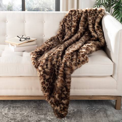 SAFAVIEH Leopard Print 50 x 60-inch Throw Blanket