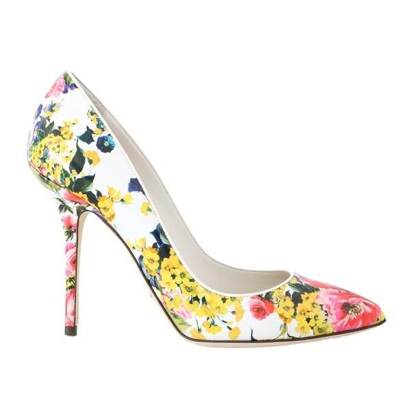 2cd6ddf3972f Shop Dolce   Gabbana Multicolor Floral Print Leather Pumps - eu36 ...