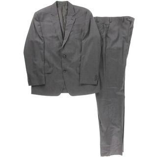 MICHAEL Michael Kors Mens Wool Heathered Two-Button Suit - 42R