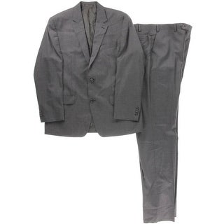 MICHAEL Michael Kors Mens Wool Heathered Two-Button Suit