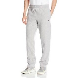 Champion Mens Powerblend Elastic Bottom Fleece Pant, Oxford Grey, S
