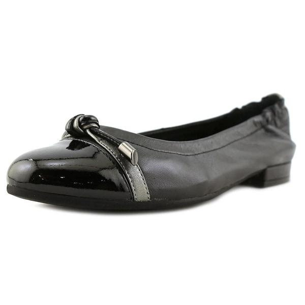 David Tate Amelia Women N/S Round Toe Leather Black Heels