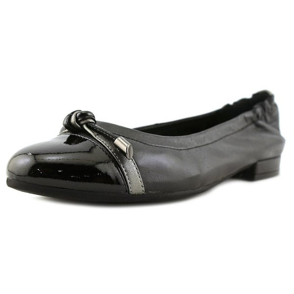 David Tate Amelia Women Round Toe Leather Black Heels