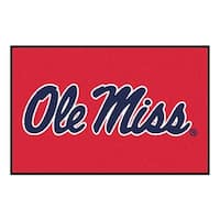 NCAA University of Mississippi (Ole Miss) Rebels Starter Mat Rectangular Area Rug