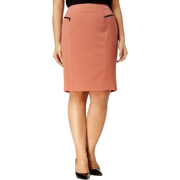 af708813c38 Shop Nine West Womens Plus Pencil Skirt Knee-Length Wear To Work ...