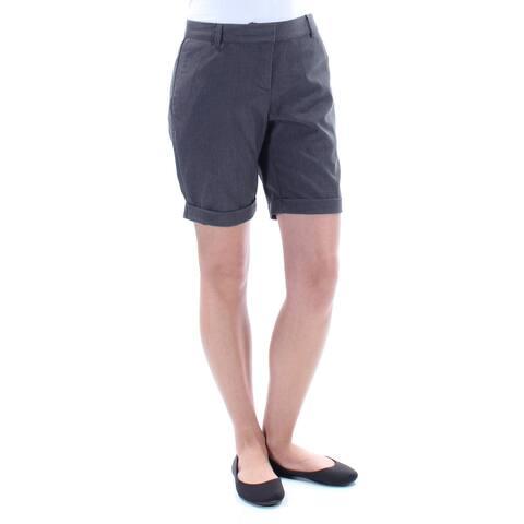 KENSIE Womens Gray Cuffed Short Size: 2