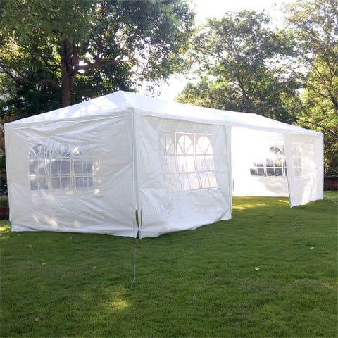 3 x 9m Seven Sides Portable Home Use Waterproof Tent w/ Spiral Tubes