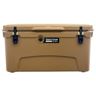 "Driftsun 75 Quart Ice Chest / Heavy Duty Cooler / High Performance 3"" Commercial Grade Insulation (Tan)"