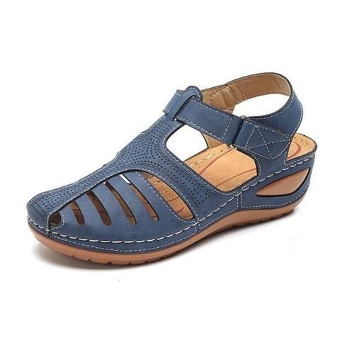 Women's Summer Retro Sandals Hole Shoes Non-Slip Large Size