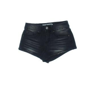 Dollhouse Womens Juniors Shorts Denim Plaid Pockets