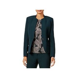 Kasper Womens Petites One-Button Blazer Suit Separate Wear to Work
