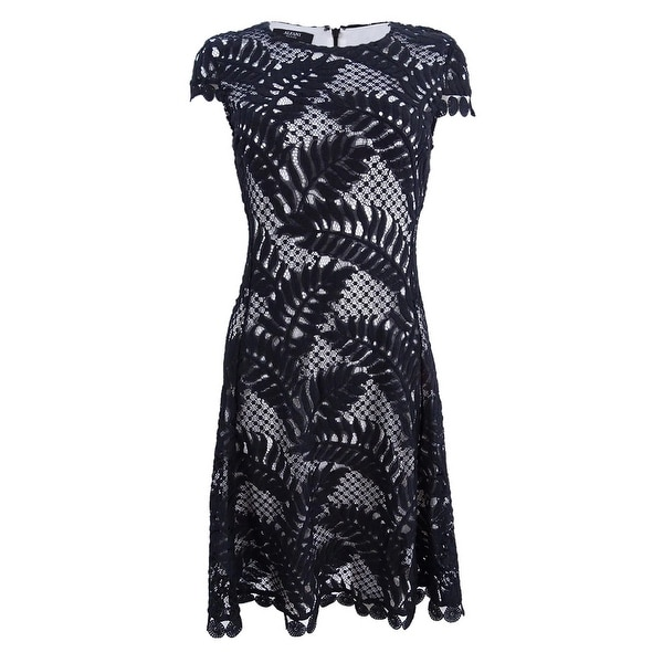 0652f537867f Shop Alfani Women's Petite Lace Fit & Flare Dress - Deep Black - On Sale -  Free Shipping Today - Overstock - 26398429