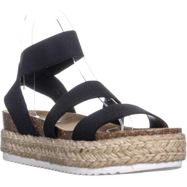 4fe8a575fa3 Shop Steve Madden Kimmie Espadrille Wedge Sandals, Black - Free ...