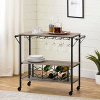 South Shore Munich Bar Cart with Wine Rack