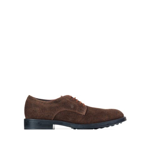 Tod's Men's Brown Black Suede Oxford Shoes RTL$595