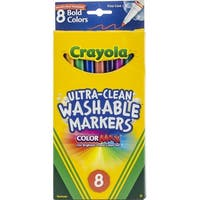 Crayola Ultra-Clean Color Max Fine Line Washable Markers -Bold Colors 8/Pkg