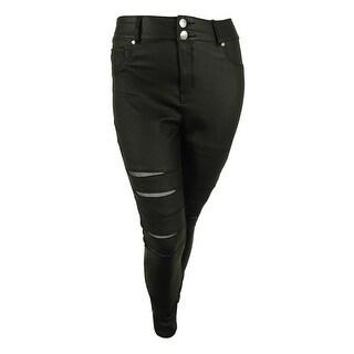 City Chic Women's Mesh Trim Pants - Black