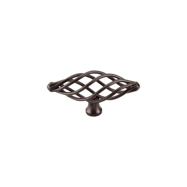 "Top Knobs M779 Oval 3"" Long Birdcage Cabinet Knob from the Normandy Series - Oil Rubbed bronze"