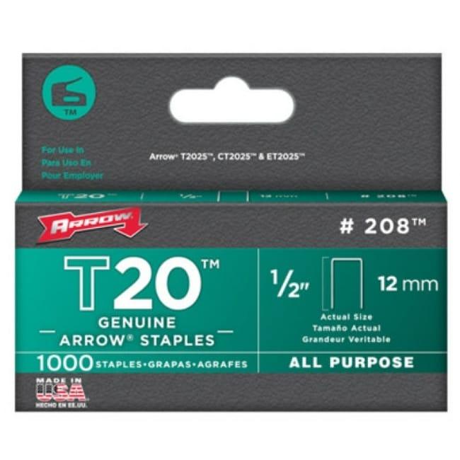 Arrow Fastener 208 T-20 Staple for T-2025 Multipurpose Tacker, 1/2