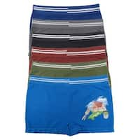 Boys 6 Pack Seamless House Boxer Briefs