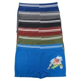 Boys 6 Pack Seamless House Boxer Briefs (3 options available)