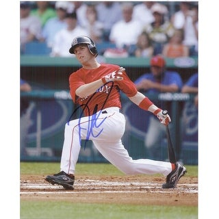 Signed Pedroia Dustin Boston Red Sox 8x10 Photo autographed