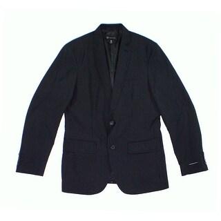 INC NEW Men's Black Size Large L Two Button Classic-Fit Pinstriped Blazer