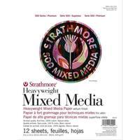 "Strathmore 500 Series Heavyweight Mixed Media Pad 9""X12""-12 Sheets"