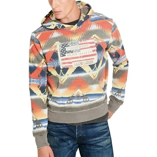 Denim and Supply Ralph Lauren Southwestern Hooded Sweatshirt Multi-Color Medium
