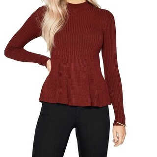 Miss Selfridge NEW Red Womens Size 4 Knitted Godot Peplum Sweater