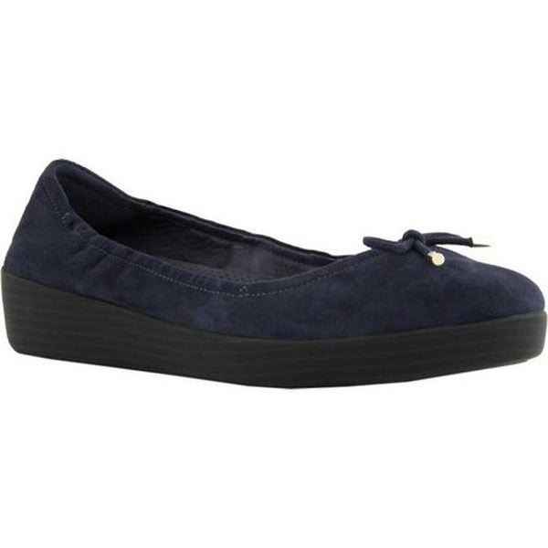 55f937a30d2 Shop FitFlop Women s Superbendy Ballerina Flat Midnight Navy Suede ...