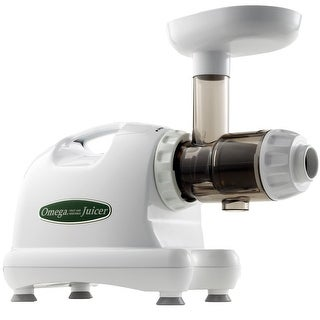 Omega Juicers J8004 Nutrition Center HD Masticating Juicer, White