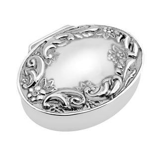 Handmade Victorian Floral Oval Silver .925 Keepsake Pill Gift Box (Thailand)