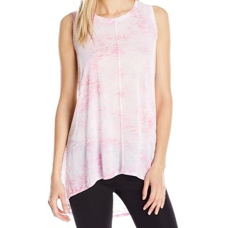 Two By Vince Camuto NEW Pink Womens Size Medium M Burnout Tank Top