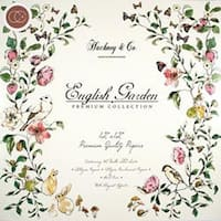 """English Garden - Craft Consortium Double-Sided Paper Pad 12""""X12"""" 40/Pkg"""