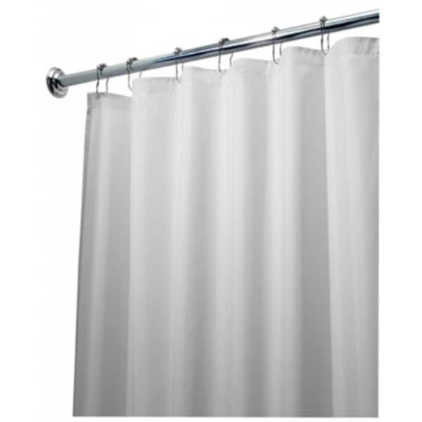Shop Interdesign 15062 Fabric Shower Curtain Liner White 72 X 96
