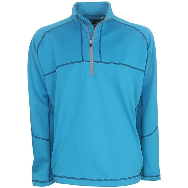 Page & Tuttle Men's Contrast Stitch 1/4-Zip Golf Pullover, Brand NEW
