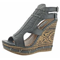 Not Rated Meta Women's Open Toe Wedge Platform Sandals