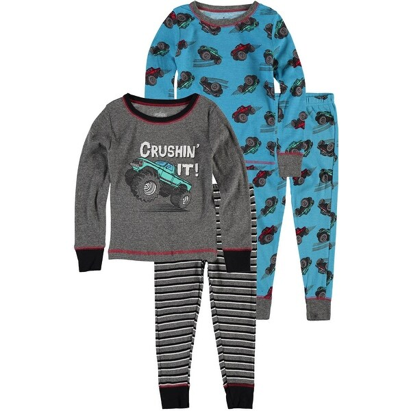 Only Boys 4-7 Truck 4 Piece Cotton Pajama Set - Multi