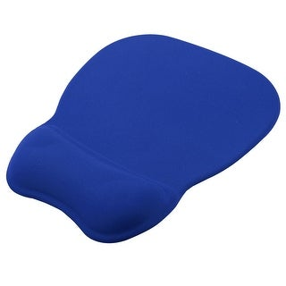 Cloth Gel Wrist Rest Support Memory Foam Mice Mouse Pad Mat Blue for Computer