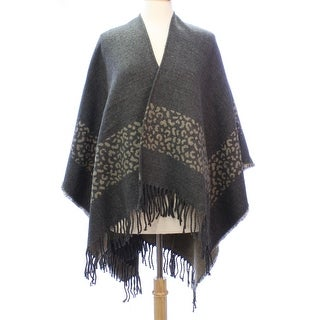 Womens Animal Print Blanket Poncho