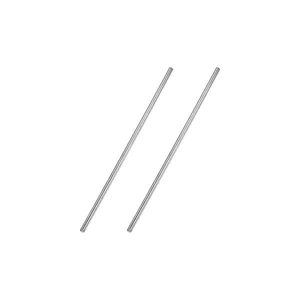 6mm x 100mm 304 Stainless Steel Solid Round Rod for DIY Craft 2pcs