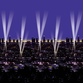 Pack of 6 Purple Night Lookout Filled with Lights Party Backdrop 30'