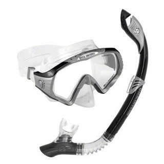 U.S. Divers Unisex Starbuck Purge Lx + Mask And Paradise Dry Snorkel, Neon/Black, Os